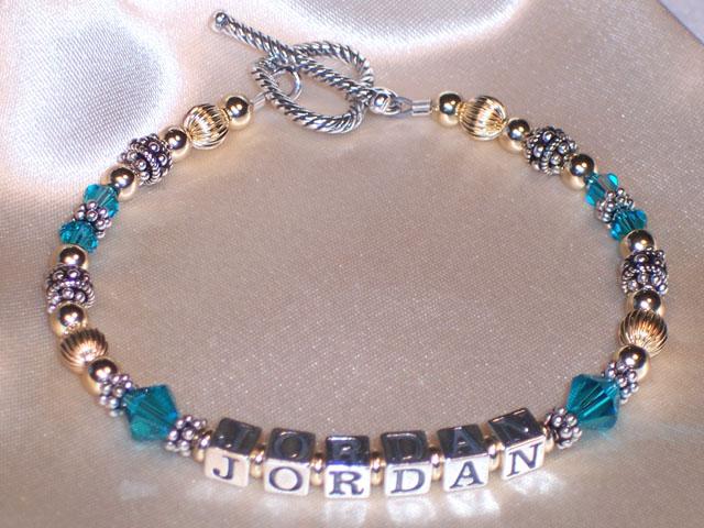 Bracelet Name Silver Beaded Friendship Www Picswe Com